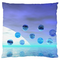 Moonlight Wonder, Abstract Journey To The Unknown Large Cushion Case (single Sided)  by DianeClancy