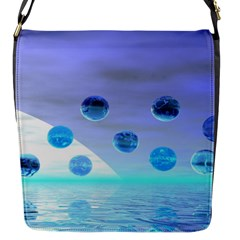 Moonlight Wonder, Abstract Journey To The Unknown Flap Closure Messenger Bag (small) by DianeClancy