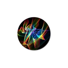 Aurora Ribbons, Abstract Rainbow Veils  Golf Ball Marker by DianeClancy