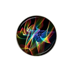 Aurora Ribbons, Abstract Rainbow Veils  Golf Ball Marker 4 Pack (for Hat Clip) by DianeClancy