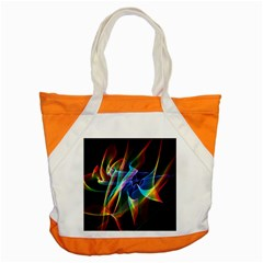 Aurora Ribbons, Abstract Rainbow Veils  Accent Tote Bag by DianeClancy