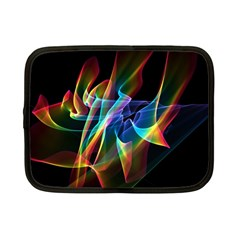 Aurora Ribbons, Abstract Rainbow Veils  Netbook Sleeve (small) by DianeClancy