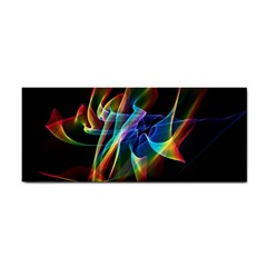 Aurora Ribbons, Abstract Rainbow Veils  Hand Towel by DianeClancy