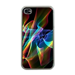 Aurora Ribbons, Abstract Rainbow Veils  Apple Iphone 4 Case (clear) by DianeClancy