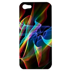 Aurora Ribbons, Abstract Rainbow Veils  Apple Iphone 5 Hardshell Case by DianeClancy