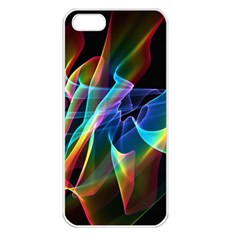 Aurora Ribbons, Abstract Rainbow Veils  Apple Iphone 5 Seamless Case (white) by DianeClancy