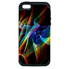 Aurora Ribbons, Abstract Rainbow Veils  Apple Iphone 5 Hardshell Case (pc+silicone) by DianeClancy
