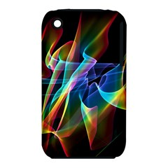 Aurora Ribbons, Abstract Rainbow Veils  Apple Iphone 3g/3gs Hardshell Case (pc+silicone) by DianeClancy