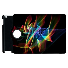 Aurora Ribbons, Abstract Rainbow Veils  Apple Ipad 2 Flip 360 Case by DianeClancy