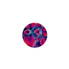 Cosmic Heart Of Fire, Abstract Crystal Palace 1  Mini Button by DianeClancy