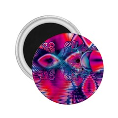 Cosmic Heart Of Fire, Abstract Crystal Palace 2 25  Button Magnet by DianeClancy