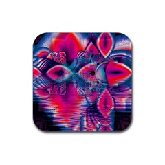 Cosmic Heart Of Fire, Abstract Crystal Palace Drink Coasters 4 Pack (square) by DianeClancy