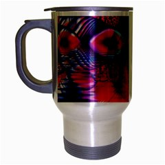 Cosmic Heart Of Fire, Abstract Crystal Palace Travel Mug (silver Gray) by DianeClancy