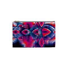 Cosmic Heart Of Fire, Abstract Crystal Palace Cosmetic Bag (small) by DianeClancy