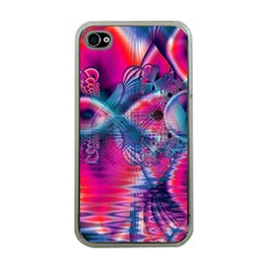 Cosmic Heart Of Fire, Abstract Crystal Palace Apple Iphone 4 Case (clear) by DianeClancy