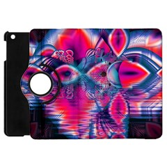 Cosmic Heart Of Fire, Abstract Crystal Palace Apple Ipad Mini Flip 360 Case by DianeClancy