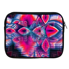 Cosmic Heart Of Fire, Abstract Crystal Palace Apple Ipad Zippered Sleeve by DianeClancy
