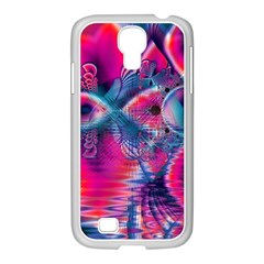 Cosmic Heart Of Fire, Abstract Crystal Palace Samsung Galaxy S4 I9500/ I9505 Case (white) by DianeClancy