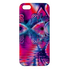 Cosmic Heart Of Fire, Abstract Crystal Palace Iphone 5s Premium Hardshell Case by DianeClancy