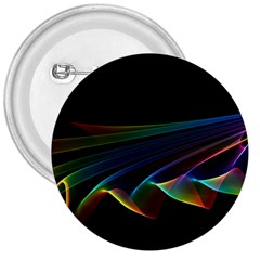 Flowing Fabric Of Rainbow Light, Abstract  3  Button by DianeClancy