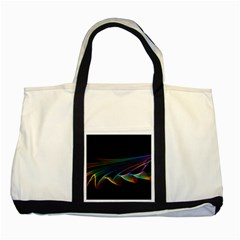 Flowing Fabric Of Rainbow Light, Abstract  Two Toned Tote Bag by DianeClancy