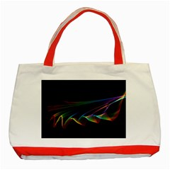 Flowing Fabric Of Rainbow Light, Abstract  Classic Tote Bag (red) by DianeClancy