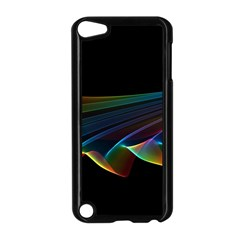 Flowing Fabric Of Rainbow Light, Abstract  Apple Ipod Touch 5 Case (black) by DianeClancy