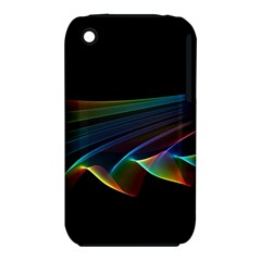Flowing Fabric Of Rainbow Light, Abstract  Apple Iphone 3g/3gs Hardshell Case (pc+silicone) by DianeClancy