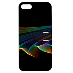 Flowing Fabric Of Rainbow Light, Abstract  Apple Iphone 5 Hardshell Case With Stand by DianeClancy
