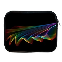 Flowing Fabric Of Rainbow Light, Abstract  Apple Ipad Zippered Sleeve by DianeClancy
