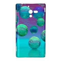 Ocean Dreams, Abstract Aqua Violet Ocean Fantasy Sony Xperia ZL (L35H) Hardshell Case  by DianeClancy