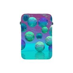 Ocean Dreams, Abstract Aqua Violet Ocean Fantasy Apple Ipad Mini Protective Sleeve by DianeClancy