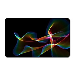 Fluted Cosmic Rafluted Cosmic Rainbow, Abstract Winds Magnet (rectangular) by DianeClancy