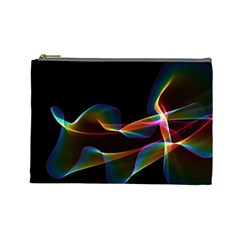 Fluted Cosmic Rafluted Cosmic Rainbow, Abstract Winds Cosmetic Bag (Large)