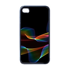 Fluted Cosmic Rafluted Cosmic Rainbow, Abstract Winds Apple Iphone 4 Case (black) by DianeClancy