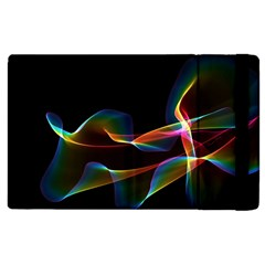 Fluted Cosmic Rafluted Cosmic Rainbow, Abstract Winds Apple Ipad 3/4 Flip Case by DianeClancy