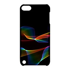 Fluted Cosmic Rafluted Cosmic Rainbow, Abstract Winds Apple Ipod Touch 5 Hardshell Case With Stand by DianeClancy