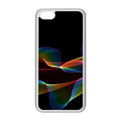 Fluted Cosmic Rafluted Cosmic Rainbow, Abstract Winds Apple Iphone 5c Seamless Case (white) by DianeClancy