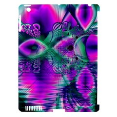 Teal Violet Crystal Palace, Abstract Cosmic Heart Apple Ipad 3/4 Hardshell Case (compatible With Smart Cover) by DianeClancy
