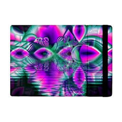 Teal Violet Crystal Palace, Abstract Cosmic Heart Apple Ipad Mini Flip Case by DianeClancy