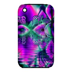 Teal Violet Crystal Palace, Abstract Cosmic Heart Apple Iphone 3g/3gs Hardshell Case (pc+silicone) by DianeClancy