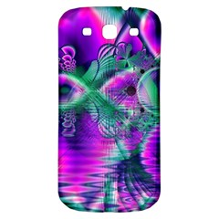 Teal Violet Crystal Palace, Abstract Cosmic Heart Samsung Galaxy S3 S Iii Classic Hardshell Back Case by DianeClancy