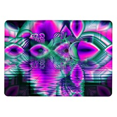 Teal Violet Crystal Palace, Abstract Cosmic Heart Samsung Galaxy Tab 10 1  P7500 Flip Case by DianeClancy