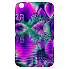 Teal Violet Crystal Palace, Abstract Cosmic Heart Samsung Galaxy Tab 3 (8 ) T3100 Hardshell Case  by DianeClancy