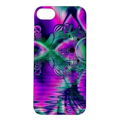 Teal Violet Crystal Palace, Abstract Cosmic Heart Apple Iphone 5s Hardshell Case by DianeClancy