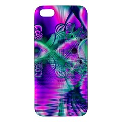 Teal Violet Crystal Palace, Abstract Cosmic Heart Iphone 5s Premium Hardshell Case by DianeClancy