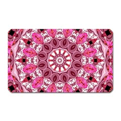 Twirling Pink, Abstract Candy Lace Jewels Mandala  Magnet (rectangular) by DianeClancy