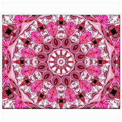 Twirling Pink, Abstract Candy Lace Jewels Mandala  Canvas 8  X 10  (unframed) by DianeClancy