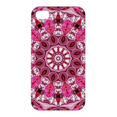Twirling Pink, Abstract Candy Lace Jewels Mandala  Apple Iphone 4/4s Hardshell Case by DianeClancy