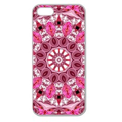 Twirling Pink, Abstract Candy Lace Jewels Mandala  Apple Seamless Iphone 5 Case (clear) by DianeClancy